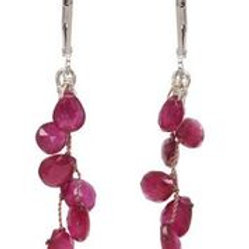 Ruby & Sterling Silver Earrings - Margo Morrison