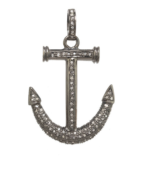 Margo Morrison - Pave Diamond Anchor Charm