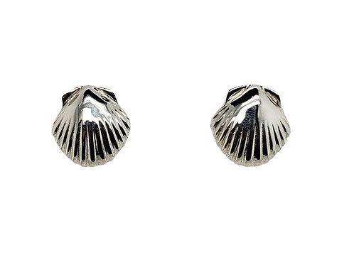 Scallop Post Earrings - Sterling Silver