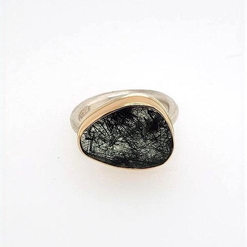 Green Rutilated Quartz Ring - Jamie Joseph