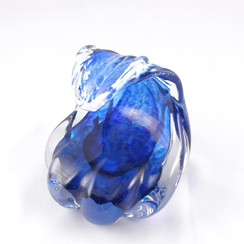 Blown Glass Wave Paperweight