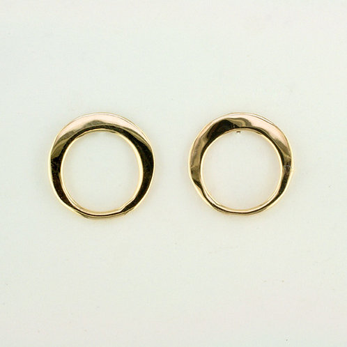 """Simply Circles"" Earrings - 14kt Gold"