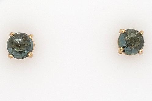 Green Envy Topaz & 14kt Gold Earrings