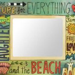 """Beach"" Wood Picture Frame"