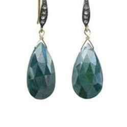 Green Moonstone Earrings - Margo Morrison