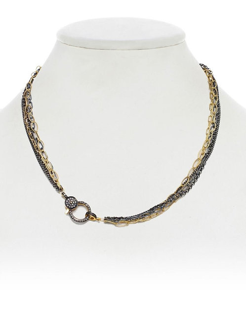 18kt Gold Vermeil, Sterling Silver Chain With Diamond Clasp - Margo Morrison