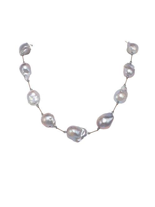 Margo Morrison - Grey Baroque Pearl Necklace