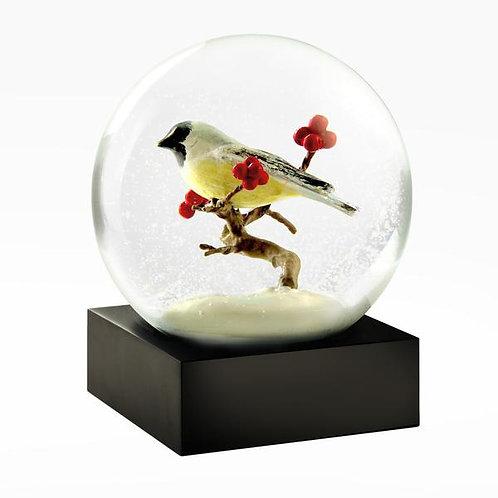 Chickadee Snow Globe