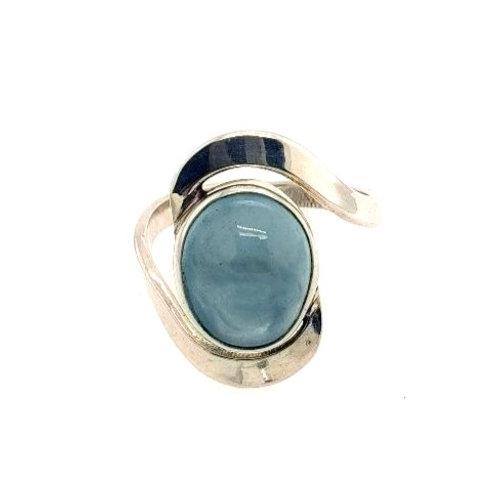 Aquamarine & Sterling Silver Ring