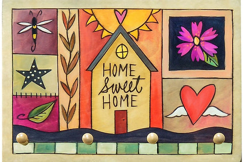 """Sincerely Sticks - """"Home Sweet Home"""" Key Ring Plaque"""