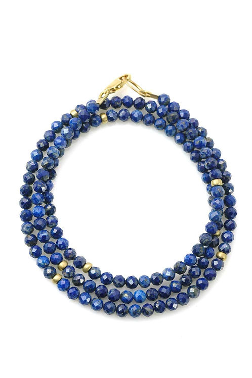 Lapis & 14kt Gold Vermeil Wrap Bracelet - Philippa Roberts