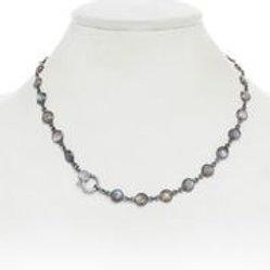 Labradorite & Diamond Clasp Necklace - Margo Morrison