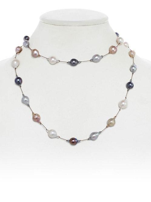 Multi-color Baroque Pearl Necklace - Margo Morrison