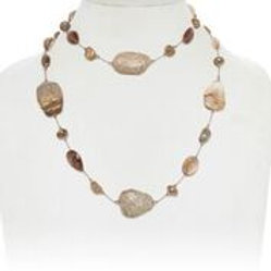 Jasper & Rutilated Quartz Necklace