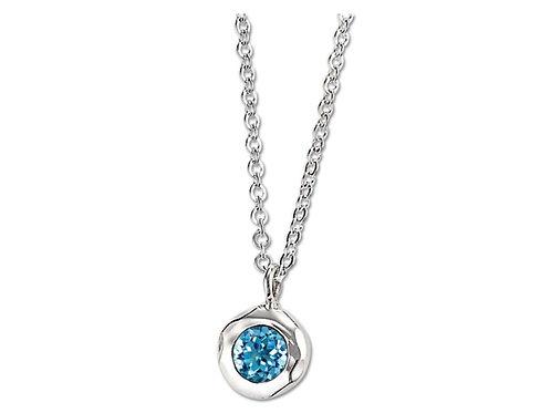 """Ripple"" Sterling Silver & Blue Topaz Pendant"