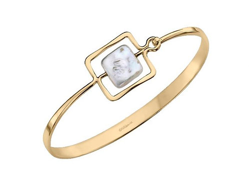 """Zenith"" Bracelet - 14kt Gold & Pearl - Ed Levin Studio"