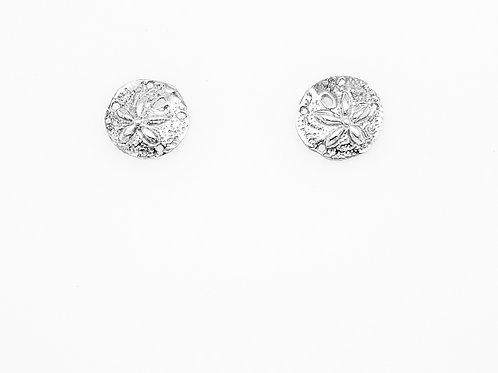 Sand Dollar Post Earrings - Sterling Silver