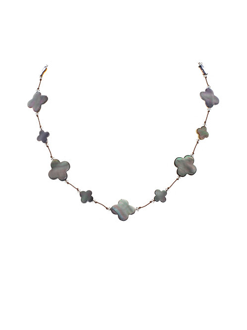 Margo Morrison - Mother of Pearl & Abalone Clover Necklace