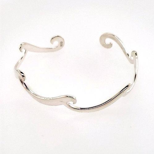 """""""Wave"""" Cuff Bracelet - Sterling Silver"""