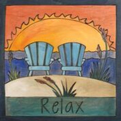 """Relax"" Wood Plaque"