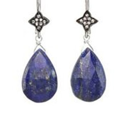 Lapis & White Sapphire Earrings