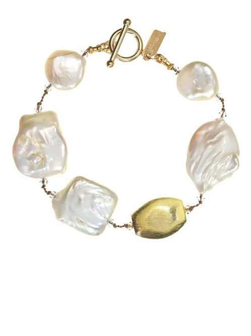Biwa & Coin Pearl Bracelet - Margo Morrison