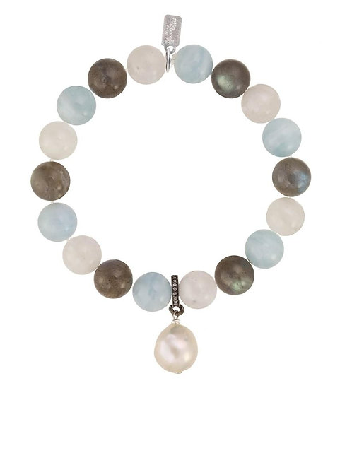 Labradorite, Moonstone, & Aquamarine Bracelet - Margo Morrison