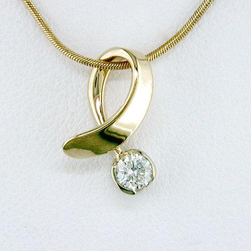 Offside Pendant - 14kt Gold & Diamond - Tom Kruskal