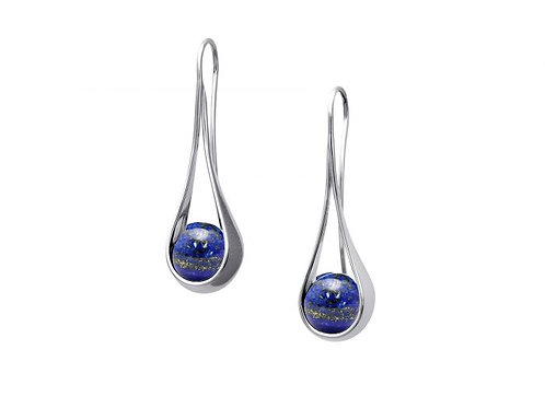 """Captivating"" Earring - Sterling Silver & Lapis"
