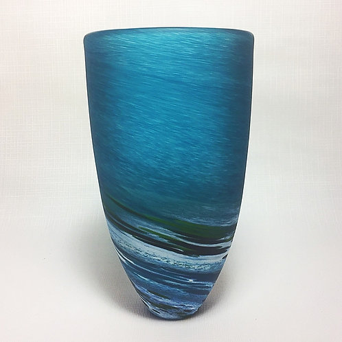 """Seascape"" Blown Glass Vase (Tall)"