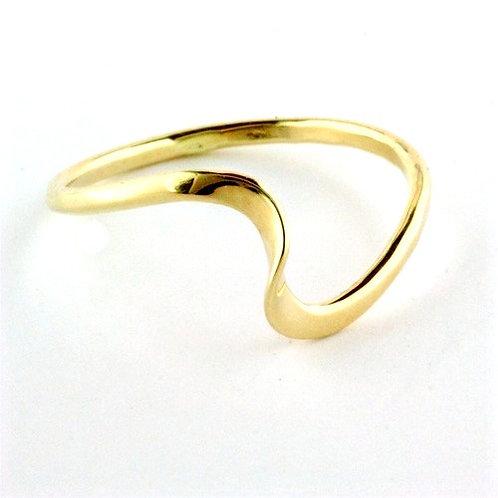 Tom Kruskal - Wave Ring - 14kt Gold