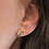 Thumbnail: Entwined (Mini) Earrings - Sterling Silver & 14kt Gold - Ed Levin Studio