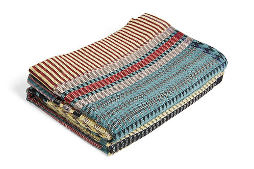 """Wallace & Sewell Woven Cotton Throw - """"Ettore"""" Honey"""