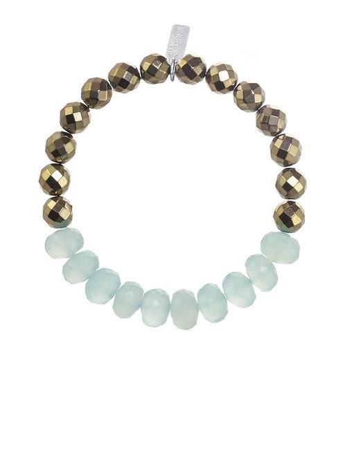 Chalcedony & Pyrite Bracelet - Margo Morrison