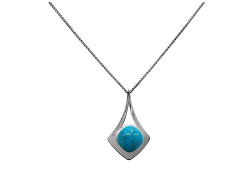"""Free Flight"" Pendant - Sterling & Turquoise"