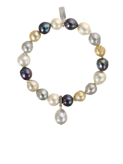 Multi-color Baroque Pearl Bracelet - Margo Morrison