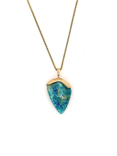 Opal & 14kt Gold Pendant