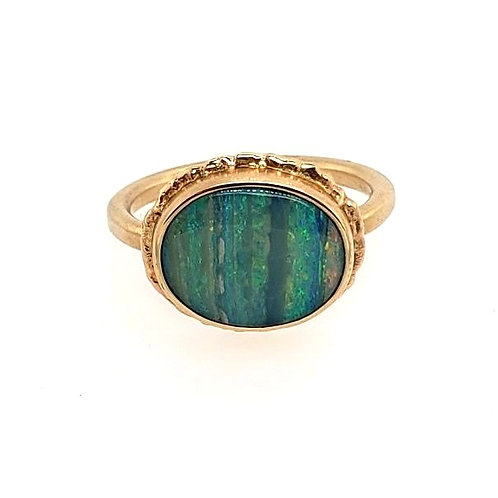 Jamie Joseph - Boulder Opal & 14kt Yellow Gold Ring