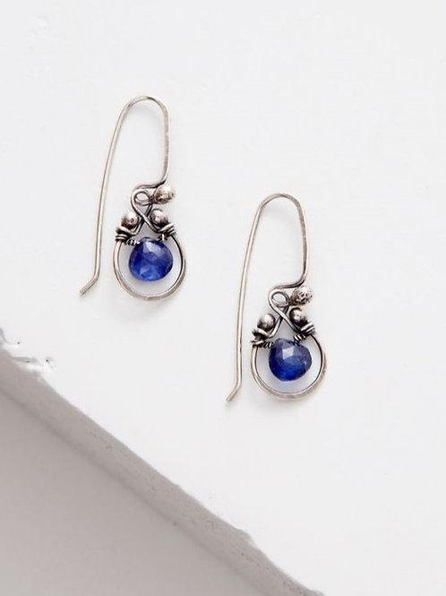 """Horseshoe"" Earrings - Lapis & Sterling Silver"