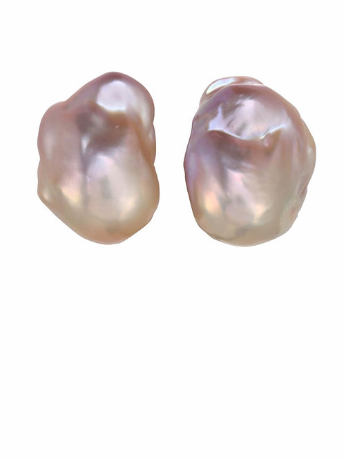 Natural Baroque Pearl Post Earrings - Margo Morrison
