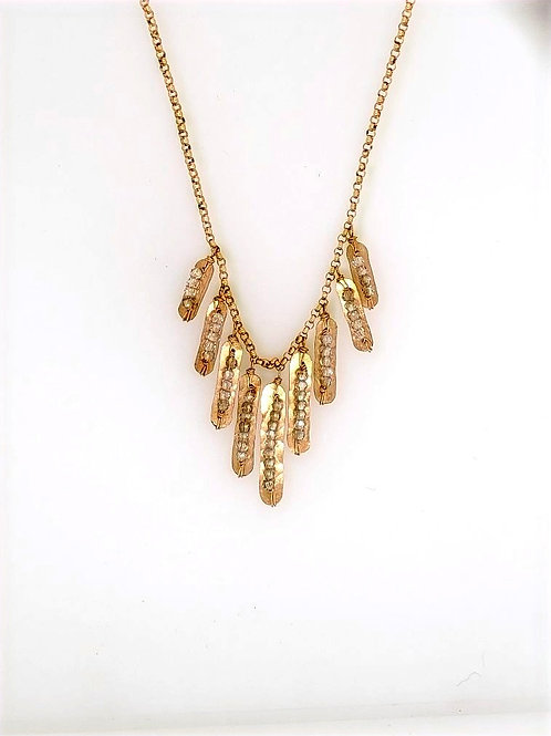 Crystal Bead & 14kt Gold Fill Necklace - Dana Kellin