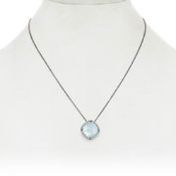 Aquamarine & Diamond Pendant - Margo Morrison