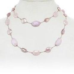 Kunzite, Moonstone, Pearl, & Rose Quartz Necklace - Margo Morrison