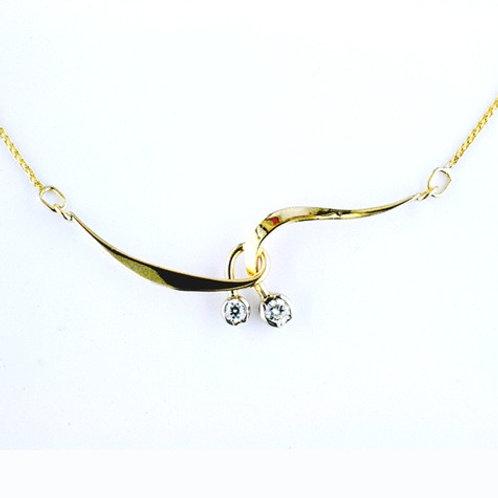 Wrap Necklace - 14kt Gold & Diamonds