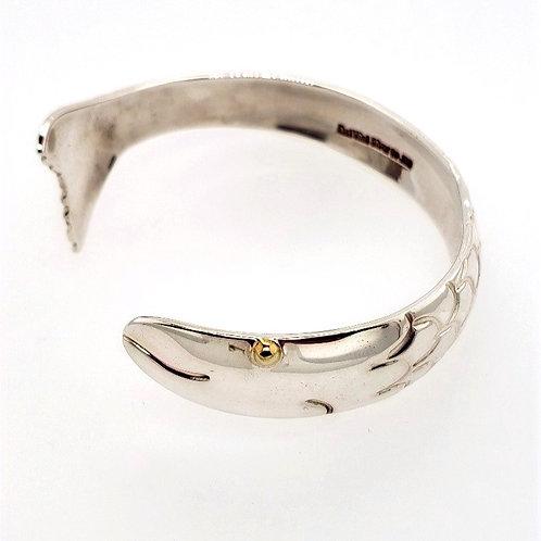 Fish Cuff Bracelet - Sterling Silver