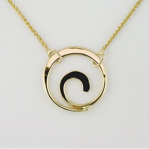 Spiral Necklace - 14kt Gold