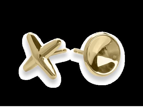 Hugs & Kisses Earrings - 14kt Gold - Ed Levin Studio