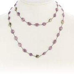 Amethyst & Pyrite Necklace
