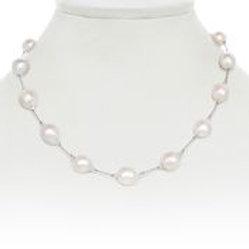 Small White Baroque Pearl Necklace - Margo Morrison