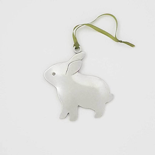 Bunny Ornament - Pewter